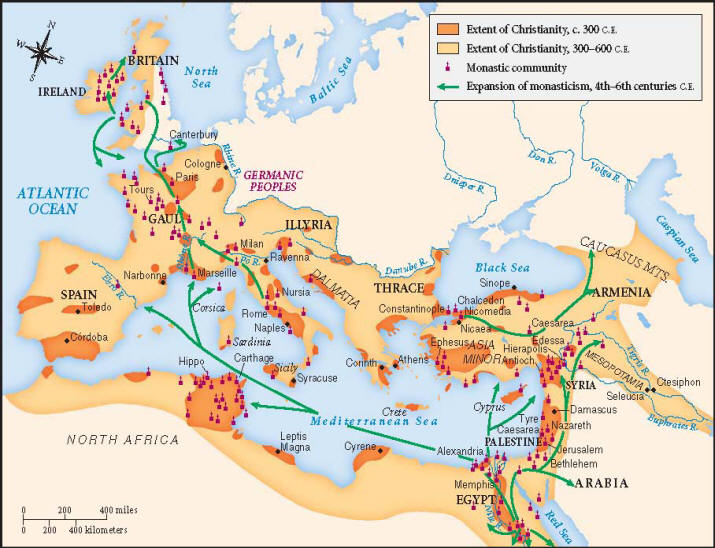 spread of christianity in roman empire essay Christianity and the roman empire within a few hundred years, the small another important factor in the spread of christianity may have been the persecutions.