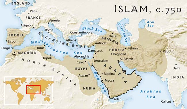 the history of the rise of islam in the middle east The prophet(saw) and many other prophets were born there land of middle east were shattered in fighting between byzantine and persia some parts like hejaj were blooded in infighting.