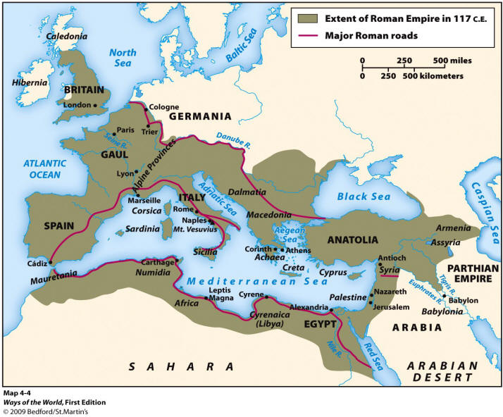 Roman Empire At Its Height Blank Map